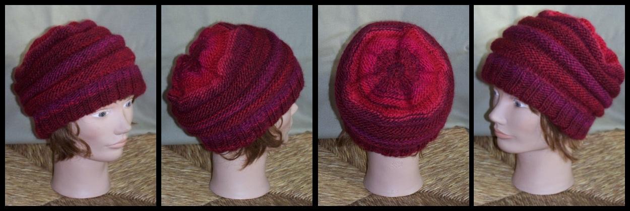 Bonnet en Azteca rouge