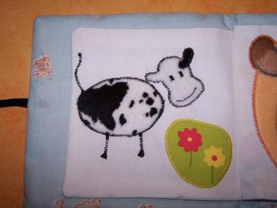 Vache en appliqué fourrure