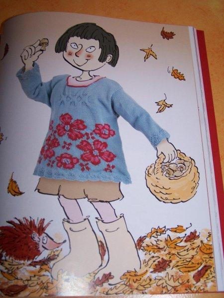 Pull Fleurs Folles: modèle de Lucinda Guy