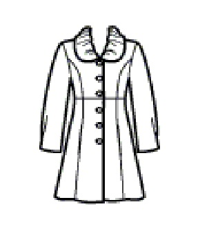 Simplicity 2812 - manteau col froncé
