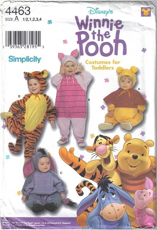 Patron Simplicity 4463 - Winnie et ses amis