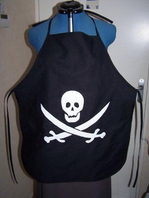 Tablier enfant: côté pirate